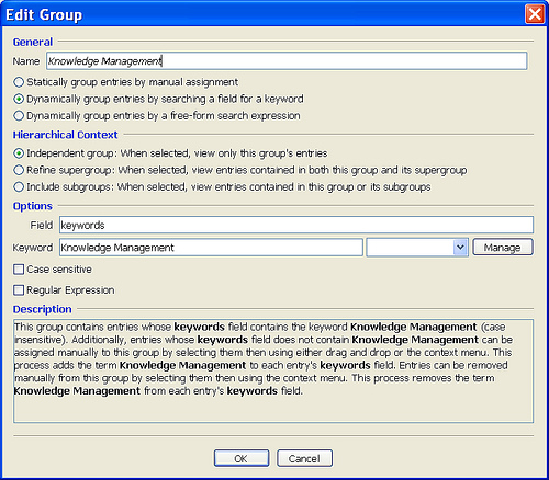 usable: jabref groups interface