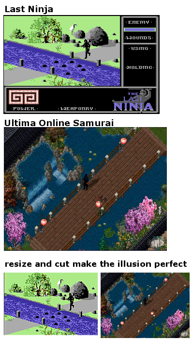 last ninja on c64 and ultima online samurai - is there a connection?