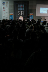 Audience and Chad Fowler at SFI