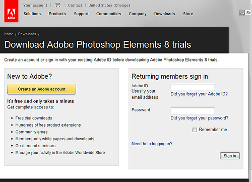 Adobe register for trial